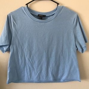 cropped blue tee